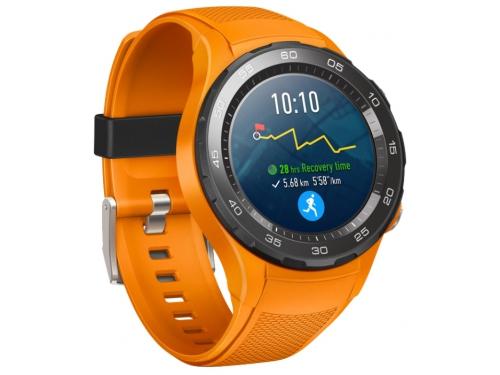 Умные часы Huawei Watch 2 Sport 4G (LEO-L09S), оранжевые, вид 1