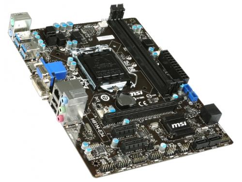 Материнская плата MSI H81M-E34 (Socket 1150, B85, DDR3, mATX, SATA3, GbLAN, RAID, USB3.0), вид 2