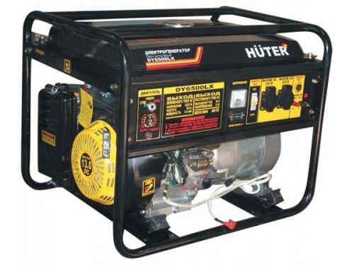 Электрогенератор Бензиновый генератор HUTER DY6500LXA,  220,  5кВт, вид 1