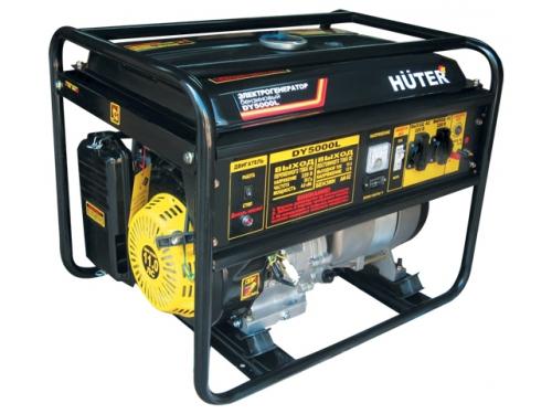 Электрогенератор Бензиновый генератор HUTER DY5000L, 220, 4кВт, вид 1