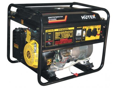 Электрогенератор Бензиновый генератор HUTER DY6500L,  220,  5кВт, вид 1