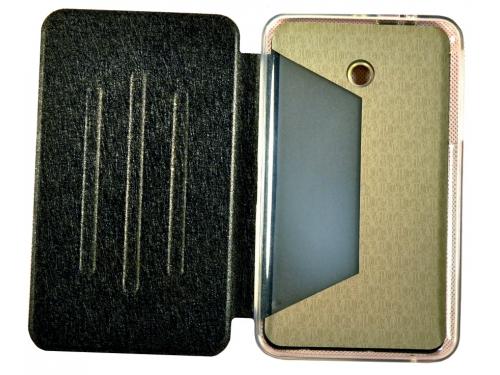 Чехол для планшета Book Cover для ASUS Fonepad 7 FE170CG с силиконовым основанием, без логотипа (чёрный), вид 2