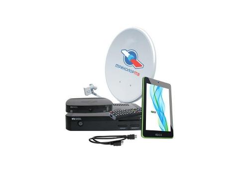 Комплект спутникового телевидения Триколор GS E501 + GS C591 (на 2 ТВ) + планшет, вид 1
