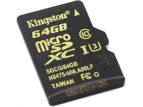 Карта памяти MicroSDXC Kingston SDCG/64GBSP 64Gb, вид 1