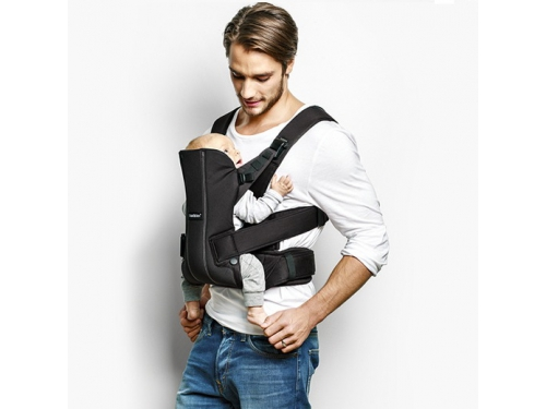 ������-������� BabyBjorn Baby Carrier We Black Cotton, ��� 4