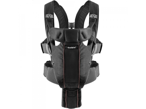Рюкзак-кенгуру BabyBjorn Miracle Black (Air Mesh)  0960.02, вид 1
