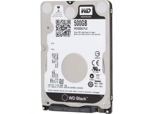 Жесткий диск WD 500 Gb, SATA-3, 2.5'', 7200 rpm (WD5000LPLX), вид 1