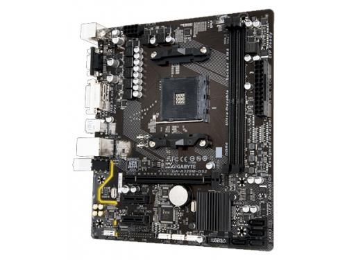 Материнская плата Gigabyte GA-A320M-DS2 Soc-AM4 AMD A320 mATX DDR4 SATA3 USB3.0 GigaLAN, вид 1