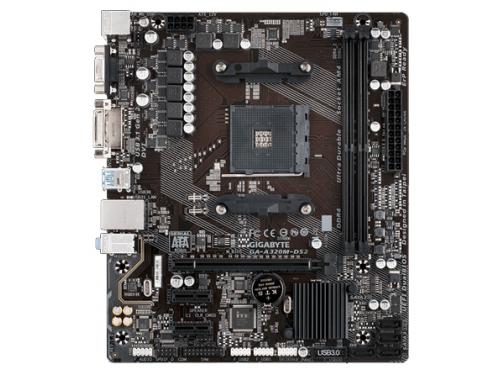 Материнская плата Gigabyte GA-A320M-DS2 Soc-AM4 AMD A320 mATX DDR4 SATA3 USB3.0 GigaLAN, вид 3
