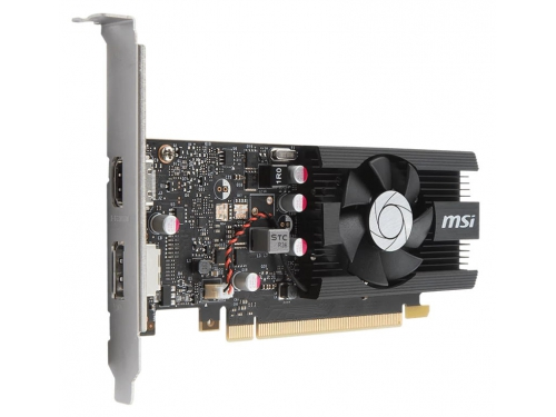 Видеокарта GeForce MSI GeForce GT 1030 1265Mhz PCI-E 3.0 2048Mb 6008Mhz 64 bit HDMI HDCP LP OC [GT 1030 2G LP OC], вид 3