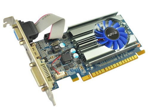 Видеокарта GeForce KFA2 GeForce GT 710 954Mhz PCI-E 2.0 2048Mb 1600Mhz 64 bit DVI HDMI (71GPH4HXJ4FK), вид 1
