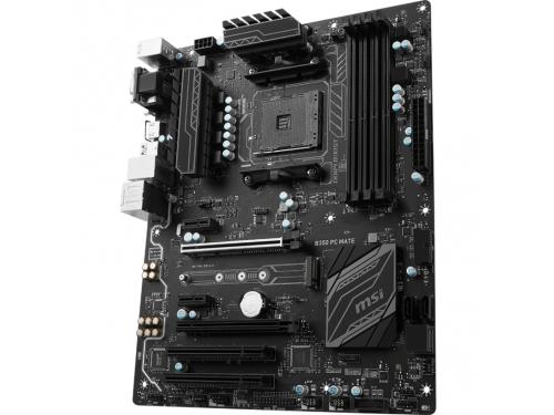 Материнская плата MSI B350 PC MATE (ATX, AM4, AMD B350, 4xDDR4), вид 3
