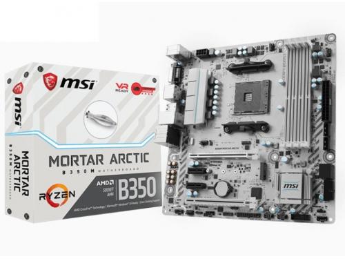 Материнская плата MSI B350M Mortar Arctic (mATX, AM4, AMD B350, 4xDDR4), вид 9