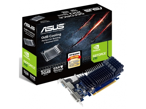 Видеокарта GeForce ASUS GeForce 210 589Mhz PCI-E 2.0 1024Mb 1200Mhz 64 bit DVI HDMI HDCP Silent (210-SL-1GD3-BRK), вид 3