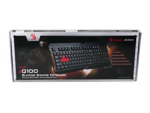 Клавиатура A4-Tech Bloody Q100 USB, чёрная, вид 4