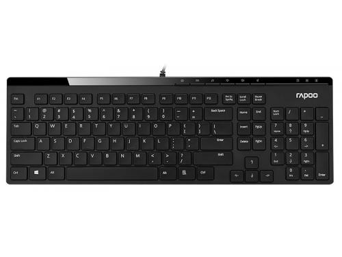 Клавиатура Rapoo N7000, USB, чёрная, вид 1