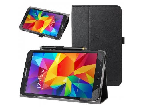 Чехол для планшета Skinbox standard для Samsung Galaxy Tab4 T330, 8'' (экокожа), чёрный, вид 2