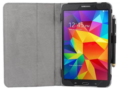 Чехол для планшета Skinbox standard для Samsung Galaxy Tab4 T330, 8'' (экокожа), чёрный, вид 4