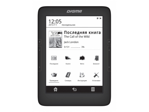 ����������� ����� Digma T646 (6'' E-Ink 1024x758 Touch, 600MHz 128Mb/4Gb microSDHC), ������, ��� 1