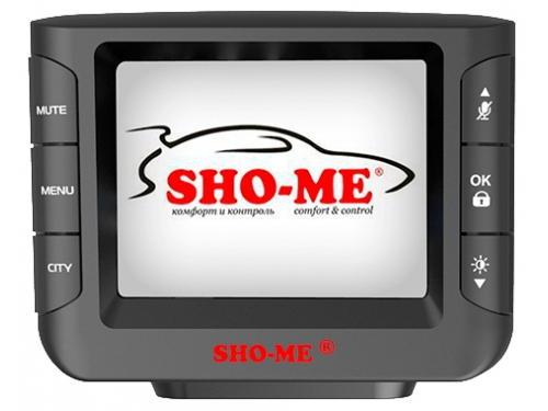 Автомобильный видеорегистратор Sho-Me Combo Wombat (с радар-детектором), черный, вид 1