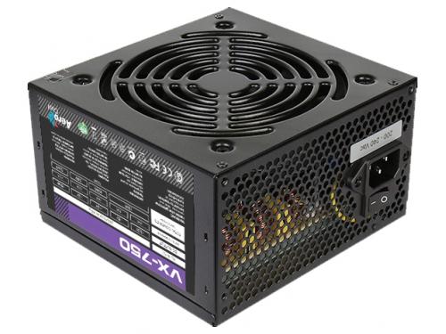 Блок питания AeroCool VX-750 750W (ATX v2.3 / EPS, APFC, 2x PCI-E, 6x SATA, 3x MOLEX, Fan 120mm), вид 1