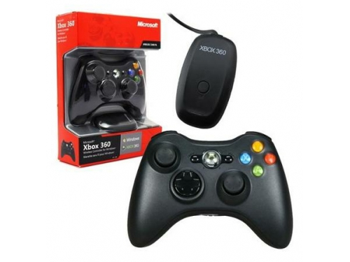 Геймпад Microsoft Xbox 360 Wireless Controller for Windows (JR9-00010), чёрный, вид 1