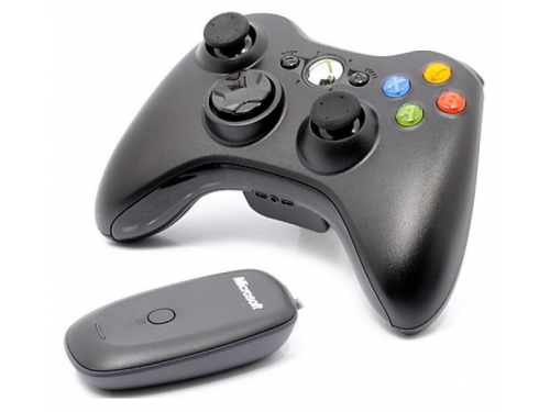 Геймпад Microsoft Xbox 360 Wireless Controller for Windows (JR9-00010), чёрный, вид 3