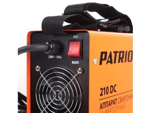 Сварочный аппарат Patriot 210DC MMA [605.30.2518], вид 2