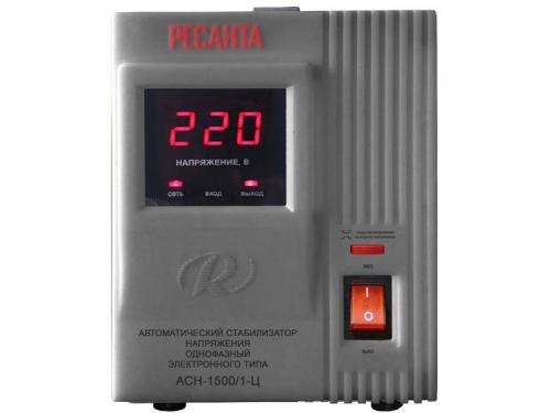 Стабилизатор напряжения РЕСАНТА АСН-1500/1-Ц, электронный, вид 1