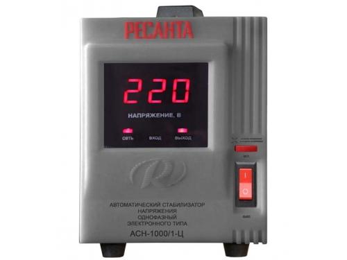 Стабилизатор напряжения РЕСАНТА АСН-1000/1-Ц, электронный, вид 1