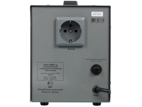 Стабилизатор напряжения РЕСАНТА АСН-1000/1-Ц, электронный, вид 3