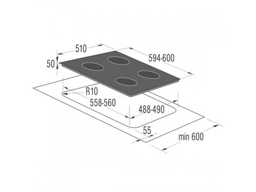 Варочная поверхность Gorenje ECT610X, Встраиваемая, вид 2
