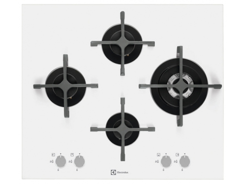 Варочная поверхность Electrolux EGT96343LW, Встраиваемая газовая, вид 1