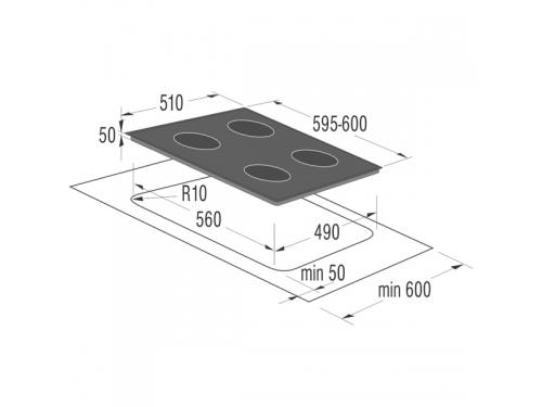 Варочная поверхность Gorenje ECS693USC, Встраиваемая, вид 3