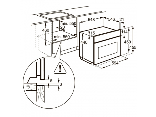 Духовой шкаф Electrolux EVY7800AAV, Встраиваемый, вид 5