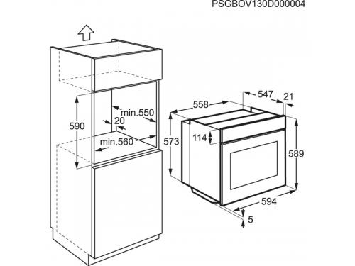 Духовой шкаф Electrolux EOB53400BN, Встраиваемый, вид 7