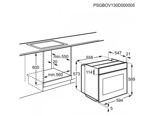 Духовой шкаф Electrolux EOB53400BN, Встраиваемый, вид 8