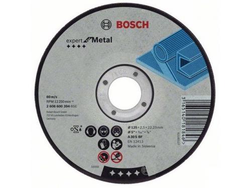 Диск отрезной BOSCH 2.608.600.394, 125x22.23x2.5 мм, по металлу, вид 1
