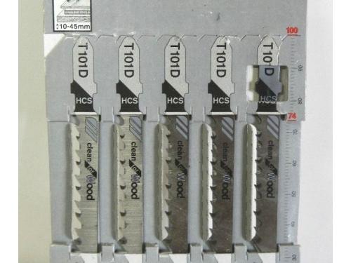 Набор пилок для лобзика BOSCH 2608630032, 5 пилок T101D HCS, по дереву, вид 2