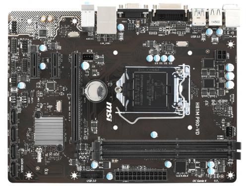 Материнская плата MSI H81M PRO-VD (Socket 1150, H81, 2xDDRIII, mATX, SATA2/3, USB2.0/3.0, VGA / DVI-D), вид 5