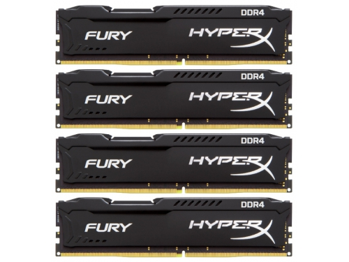 Модуль памяти DDR4 16Gb 2133MHz Kingston 4*4Gb HyperX Fury HX421C14FBK4/16, вид 1