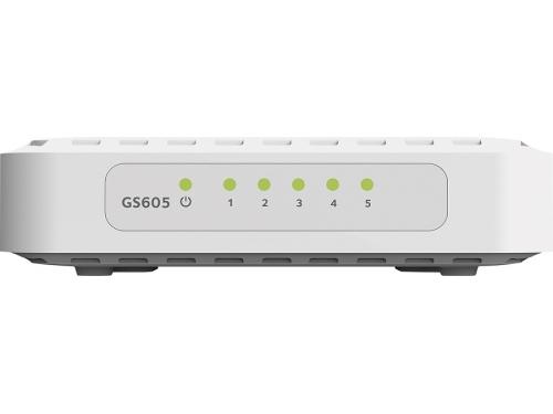 Коммутатор (switch) Netgear GS605-400PES (неуправляемый), вид 1