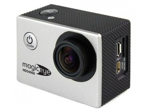 Видеокамера Gmini MagicEye HDS4000, экшн-камера с набором принадлежностей, серебристая, вид 1
