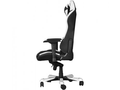 Игровое компьютерное кресло DXRacer Iron OH/IS11/NW, черное/белое, вид 4