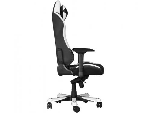 Игровое компьютерное кресло DXRacer Iron OH/IS11/NW, черное/белое, вид 3