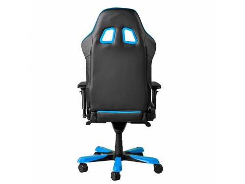 Игровое компьютерное кресло DXRACER King OH/KS06/NB, для геймеров, черно-голубое, вид 7