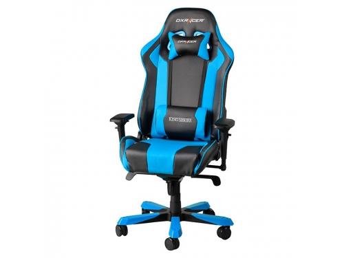 Игровое компьютерное кресло DXRACER King OH/KS06/NB, для геймеров, черно-голубое, вид 1