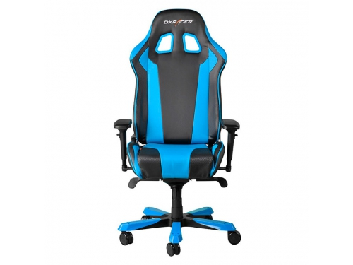 Игровое компьютерное кресло DXRACER King OH/KS06/NB, для геймеров, черно-голубое, вид 2