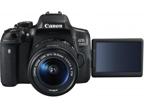 Цифровой фотоаппарат Canon EOS 750D KIT (EF-S 18-55mm f/3.5-5.6 IS STM) черный, вид 1