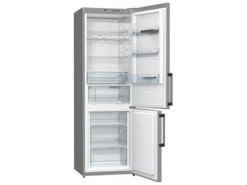 Холодильник Gorenje NRK6191GHX, серебристый, вид 1